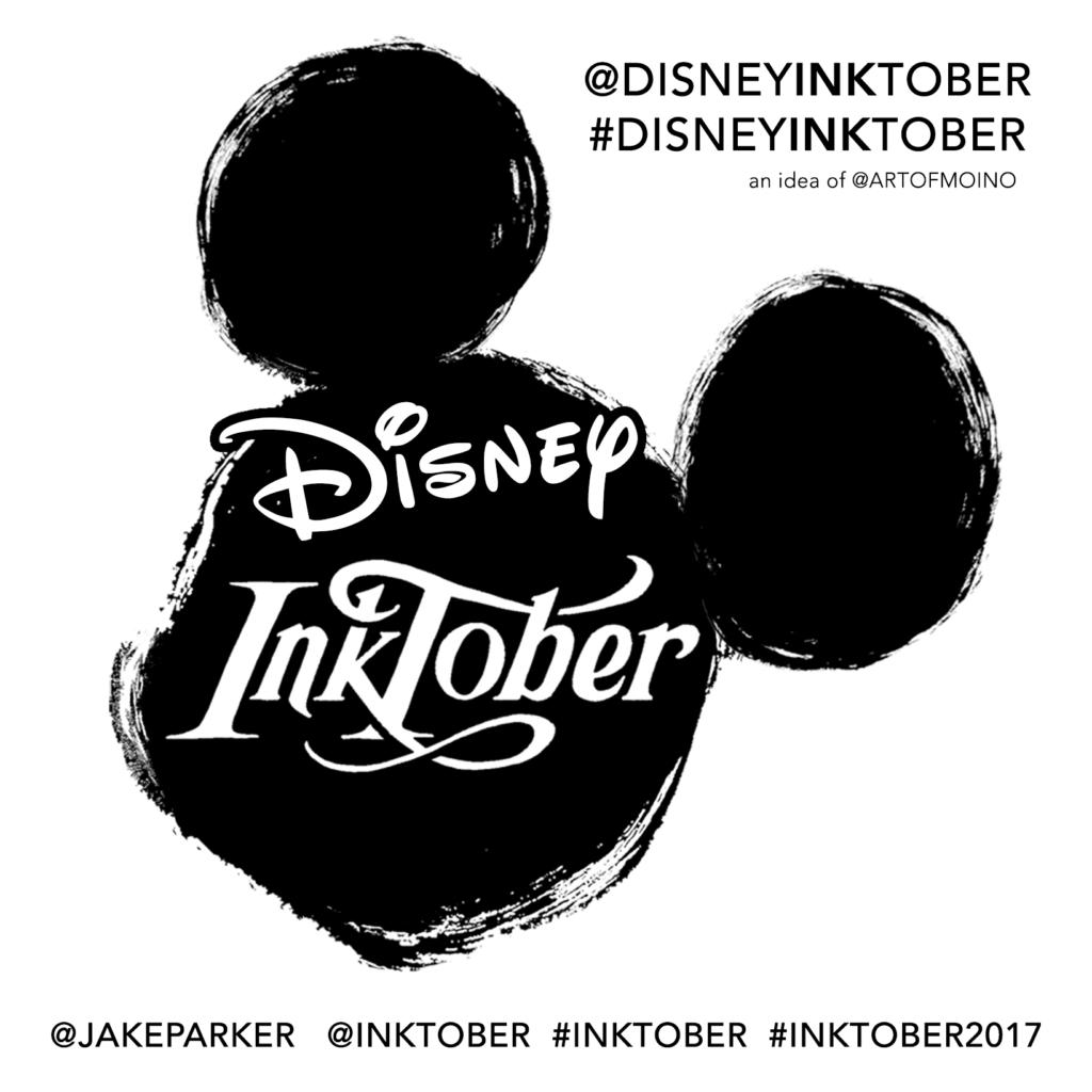 Disney Inktober 2017 - Hashtags