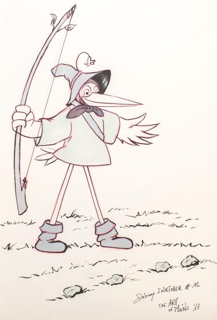 Disney Inktober 2017 - #12 Arc - Robin des bois