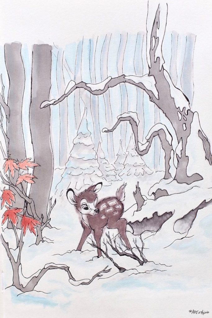 Disney Inktober 2017 - #3 Bois - Bambi