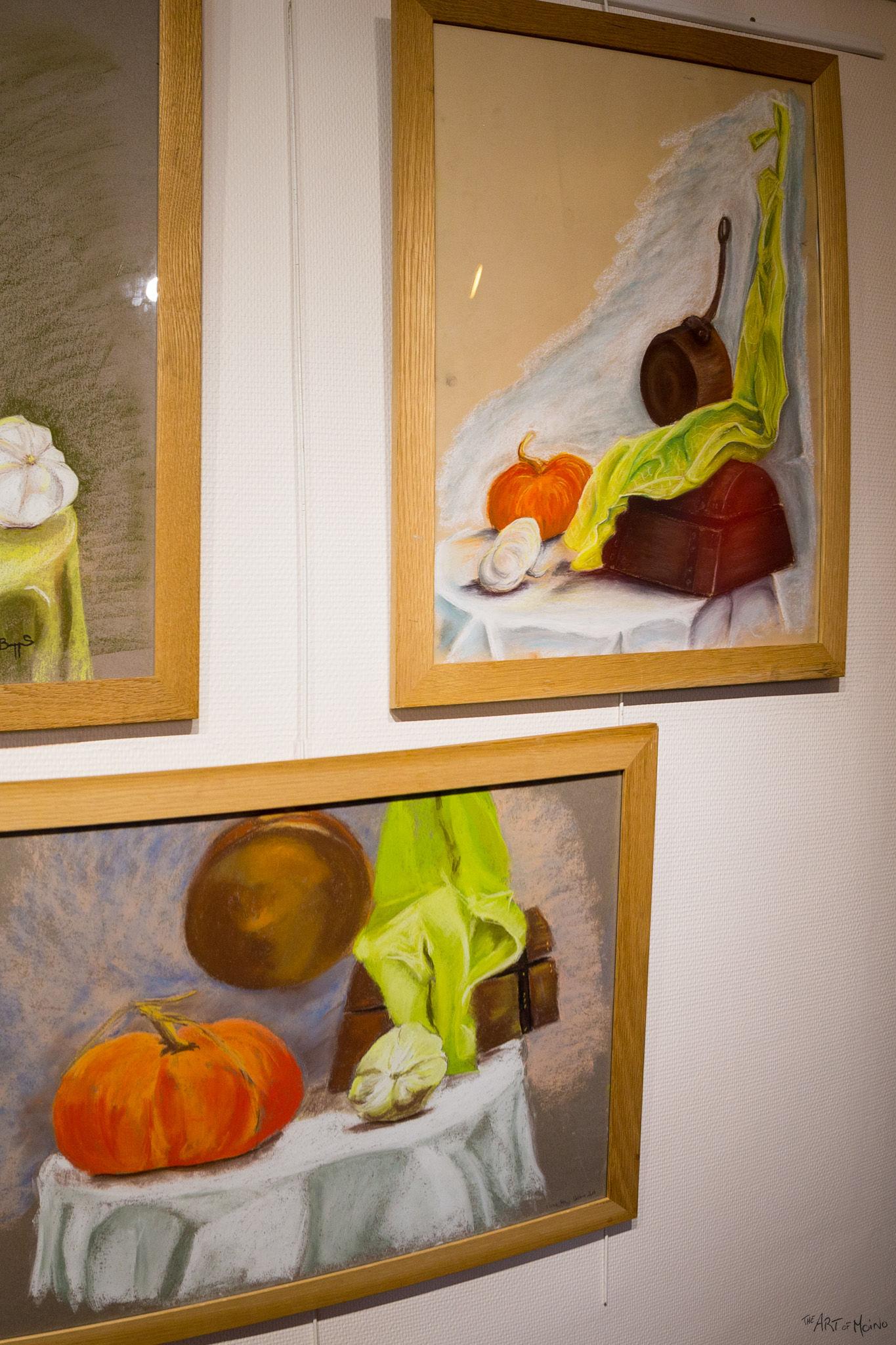 (en haut à droite) Un autre dessin au pastels, à la mini-expo de l'Usine à Chapeaux à Rambouillet