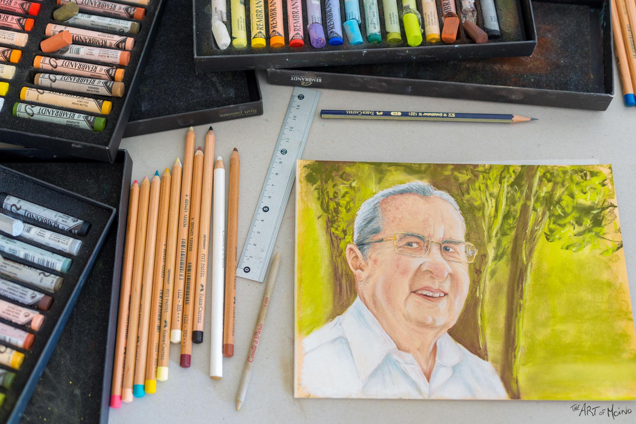 Premier portrait aux pastels