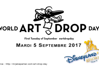 World ART DROP Day, à Disneyland Paris