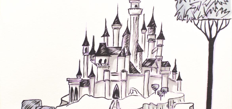 Disney Inktober 2017 - #7 Dormir - La belle au Bois Dormant