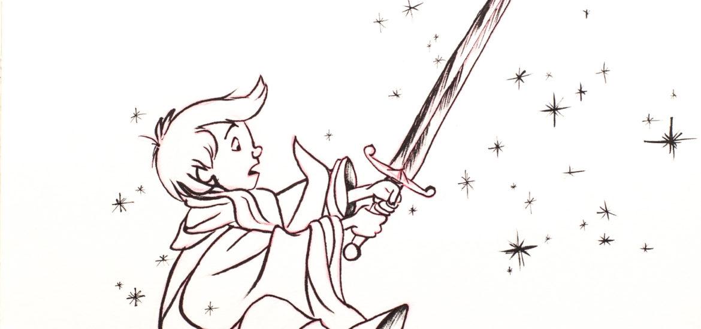 Disney Inktober 2017 - #9 Épée - Merlin l'Enchanteur