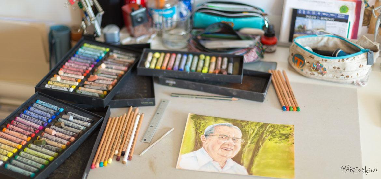 Premier dessin (portrait) aux pastels