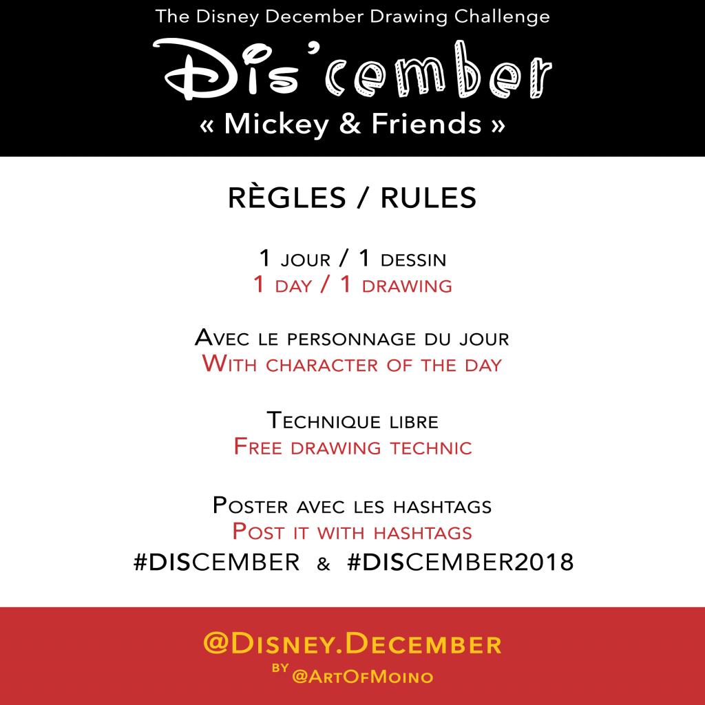 Dis'cember - Règles / Rules - Disney December 2018