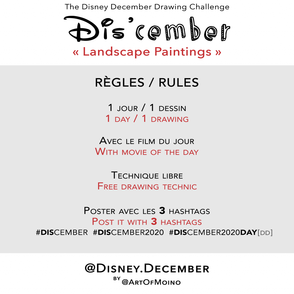 Dis'cember - Règles / Rules - Disney December 2020